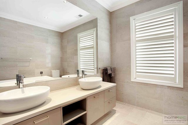 bathroom and wet area plantation shutters